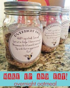 Overnight Oatmeal in Mason Jars
