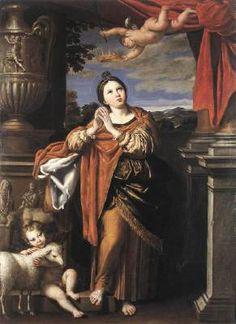 278-291 Saint Agnes virgin martyr killed by Diocletian J~12A