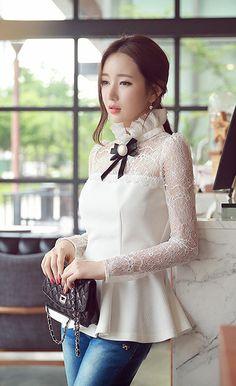 Morpheus Boutique  - White Lace Bow Ruffle Tops, CA$91.41 (http://www.morpheusboutique.com/new-arrivals/white-lace-bow-ruffle-tops/)