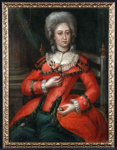 Presumed Portrait of Marie-Amélie Habsourg-Lorraine 1746/1804 Period : XVIIIe century Matter : Oil on canvas