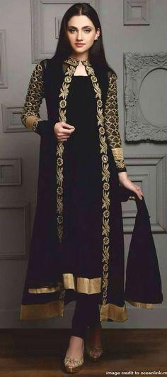 Z Fashion Trend: BLACK LONG JACKET STYLE PARTY WEAR DESIGNER SUIT