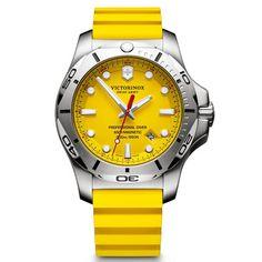 b747816c7dd Victorinox Swiss Army I.N.O.X. Professional Divers Sapphire Date Yellow  Watch 241735