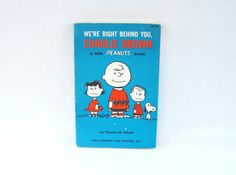 Vintage We're Right Behind You Charlie Brown by HipCatRetroVintage