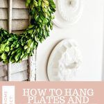Here's two of the BEST WAYS to hang plates and almost anything else on a wall without wires that show. Very easy and detailed links and directions. Plate Hangers, Plates On Wall, Wall Design, Wire, Pottery, Good Things, Decorating, Ceramica, Decoration