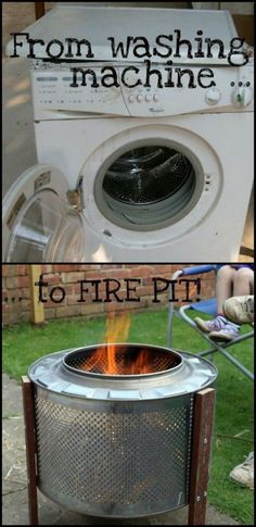 9 $10 DIY Washing Machine Drum Fire Pit