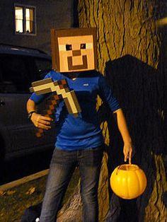 Minecraft Halloween costume!