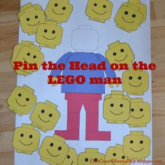 lego man pin the head on the lego man free printable cheap diy party ideas decorations frugal