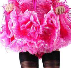 Ruffles of petticoat