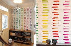 This would be me, not being able to decide on a wall color so I just paint strips of each color.