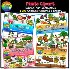This is a huge bundle that consists that the 4 sets on plants worth $ 23.50:Plants in Our LivesParts of PlantsTypes of PlantsPlants Seeding and Germination
