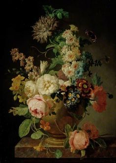 Peter Faes (Flemish, 1750-1814) - A Vase of Flowers, 1790