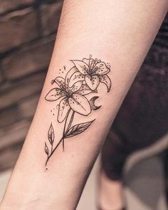 106b9b9a3 42 Best Small lily tattoo images in 2018 | Cute tattoos, Small ...