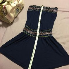 SaleCharlotte Russe navy embroidered romper. So so cute! Show your legs with this soft fabric navy romper! Date material with some wedges.  ✨NO TRADES PLEASE! ✨YES TO OFFERS & YES TO BUNDLES✨✨✨✨✨I send every package with stickers, candies, treats, love notes, samples, presents and surprises...no two are the same. ✨✨✨✨✨ Charlotte Russe Pants Jumpsuits & Rompers