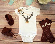Deer Onesie®, Baby Shower Gift, Baby Girl Clothes, Cute Baby Onesies, Rustic Baby Gift, Country Baby Gift, Baby Bodysuit, Hunting Onesies #babyclothesonesies