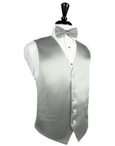 Platinum Noble Silk Full BackTuxedo Vest by Cristoforo Cardi Silk Tuxedo