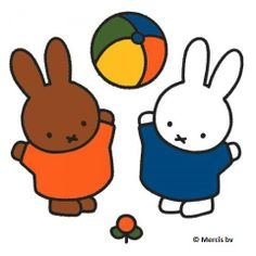Miffy playing ball
