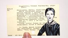 Emily Dickinson on Library Card by Vickie Moore on Etsy