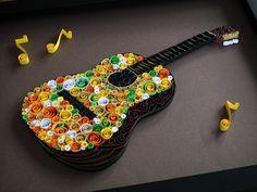 Une guitare ou pour s'en inspirer pour remplir avec des cercles identiques par exemple.