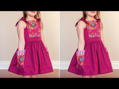 Kevin Macleod, Tube Dress, Baby Design, Frocks, Stitch, Sewing, Youtube, Dresses, Patterns