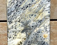 Fluid Acrylic Painting: Mini Gold Digger 3