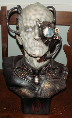 """Borg (ST: First Contact) Life-Size Bust!  """"Resistance is futile!"""""""