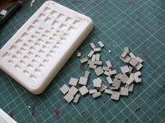 Make your own mold for bricks because you never know when this might come in handy