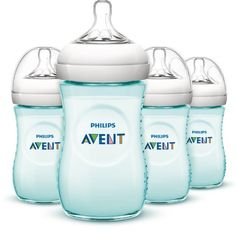 Philips AVENT Natural Bottle, Teal, 9 Ounce, 4 Count