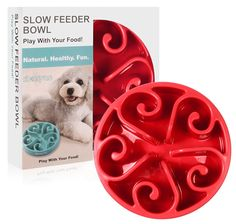 Pet Supplies : Slow Feeder Dog Bowl, 【NON SLIP VERSION ã€'Siensync Fun Feeder Interactive Bloat Stop Dog Bowl, Eco-friendly Durable Non Toxic Bamboo Fiber Slow Feed Dog Bowl, 8 Inch : Amazon.com