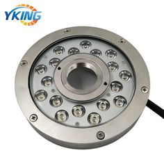 New design 316L Stainless steel IP68 18W/54W LED fountain light Mode No.: YK-FT106 Material: 316L Stainless steel + 8mm Tempered Glass LED: 18x1W/3W Cree/Epistar 3in1 LED Chips. Size: D188*H33mm Beam Angle: 30/45/60/90 Power: 18W-54W Voltage: DC24V Color: Single Color/RGBV+ (Constant Voltage) Cable: 1.5M UL Rubber Cable Waterproof: IP68 Underwater use Warranty: 3 years email:sales1@yaokingled.com Tel:+86-15889359850 (Whatsapp/Wechat) Skype: yaokingled website: www.yaokingled.com/en