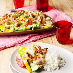 Thai Satay Chicken Salad with Jasmine Rice