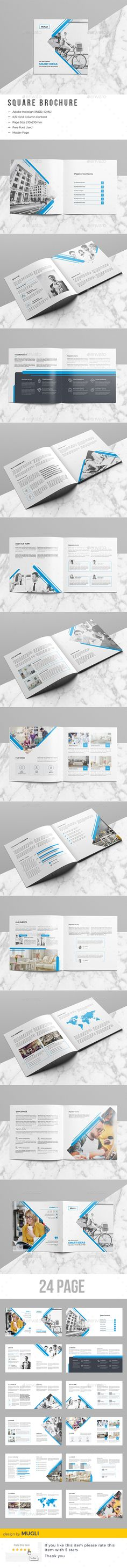 Square Brochure — InDesign INDD #square #creative • Download ➝ https://graphicriver.net/item/square-brochure/19568308?ref=pxcr