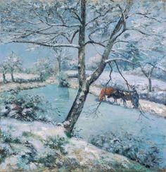 Camille Pissarro - Winter at Montfoucault, snow effect [1875]