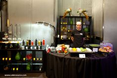 Caprese Carving Station with balsamic glazes and specialty salts - Catersource 2012 (Catering By Design)