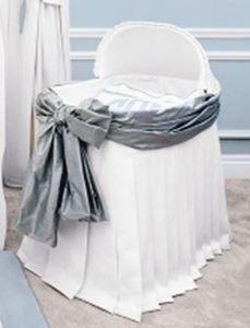 Sterling Anabella Custom Designed Bassinet Covers.   Bassinet Covers are designed in two luxurious styles. #Bassinet #Nursery #waughinteriordesigns