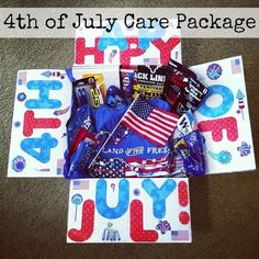 fourth of July Care Package - Incredible bundle sufficient for any military part! Missionary Care Packages, Deployment Care Packages, Missionary Mom, Soldier Care Packages, Military Deployment, Military Spouse, Deployment Gifts, Military Families, Care Box