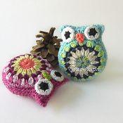 Crochet Owl Amigurumi Pincushion - via @Craftsy