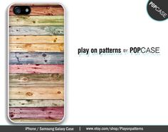 iPhone 4 case iPhone 5 case iPhone 5s case iPhone 5c case iPhone 6 Case Samsung Galaxy S4 Samsung Galaxy S5 case - colored wood panel print by playonpatterns on Etsy