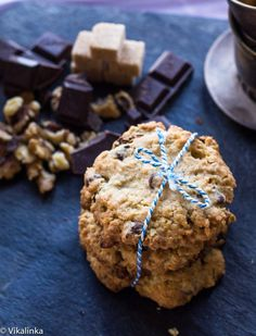 Cowboy Cookies- wonderfully chewy and full all the good stuff like rolled oats, raisins, walnuts, coconut and dark chocolate.
