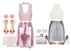 """""""Metallic"""" by visionsbyjo ❤ liked on Polyvore featuring Topshop, Manolo Blahnik, Chanel, Pierre Balmain, Sophia Webster, Christian Louboutin, 3.1 Phillip Lim and Ray-Ban"""