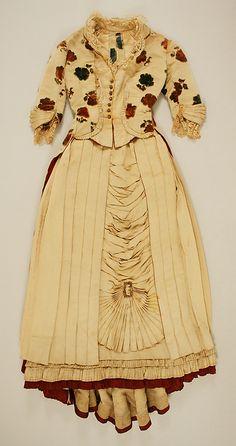 Dress  Date: ca. 1882 Culture: American Medium: silk, metal, cotton Accession Number: C.I.58.1.1