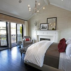 Love the seat at the end of the bed, and the pop of color! Bedroom Design, Pictures, Remodel, Decor and Ideas - page 78