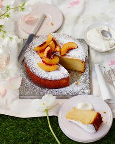 Nectarines and marsala speak of Sicily in this moreish polenta cake recipe. Easy to transport – it's perfect for any summer picnic.