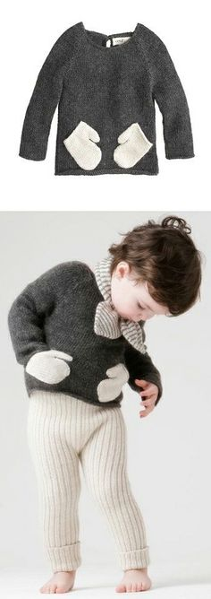 Baby Oeuf® hug me sweater // this is simply adorable! <3 <3 <3 <3 <3