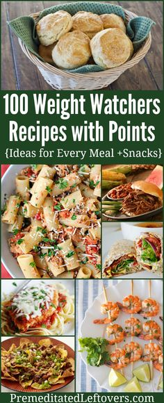 Keep this list handy for easy meal planning on the Weight Watcher's diet. It includes 100+ Weight Watcher's Recipes with Point Values. WW recipe ideas for every meal and snacks.
