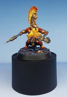 Hi all, here's a Shadespire Fyre Slayer that I painted as a gift for Joe Tomaszewski to celebrate his his 10 years at GW. Warhammer Dwarfs, Warhammer Figures, Warhammer Paint, Warhammer Aos, Warhammer Fantasy, Warhammer 40000, Age Of Sigmar, Warhammer Terrain, Blood Bowl