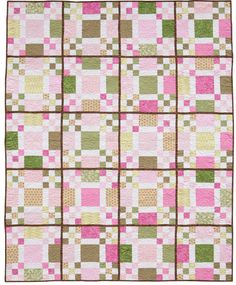 "Fast fat-quarter quilt: ""Jill"" by Jeanne Large and Shelley Wicks, from the book Easy Weekend Quilts."