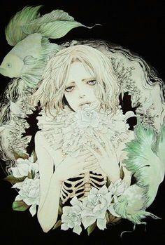 art, girl, and pale skin image Kunst Inspo, Art Inspo, Pretty Art, Cute Art, Art And Illustration, Anime Art, Manga Art, Arte Cyberpunk, Art Hoe
