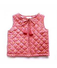 Gilet Folks raspberry vest
