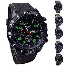 Vovotrade Hombres mujeres Relojes Militar Deportes Reloj de pulsera de reloj de cuarzo de silicona