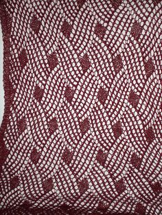 Knit Lace Shawl Lattice Lace Wrap FREE Ravelry pattern